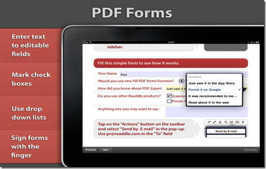 Readdle for iPad version 2 0 comes with form-filling and 2