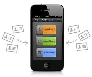 Readdle released card scanner pro to recognize business cards on the announced availability of their new iphone application card scanner pro the application scans business cards with the iphone camera recognizes the reheart Choice Image